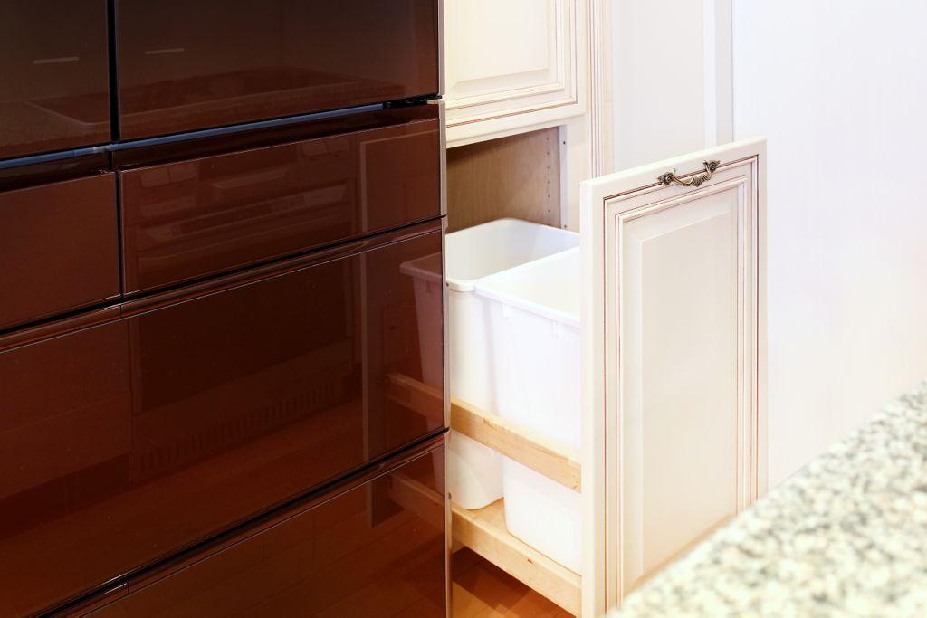 食器棚で唯一要望を伝えたゴミ箱収納