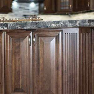 FLUTED CLIPPED CORNER CABINET