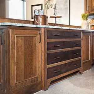 TWO-TONE INSET DRAWER BANK