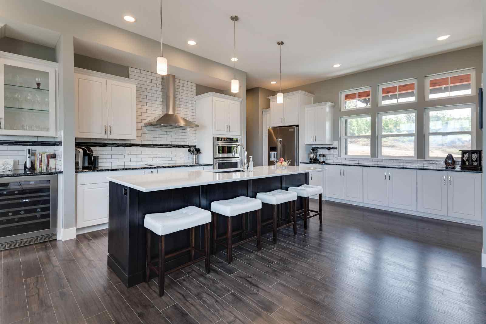 Just White Transitional Kitchen